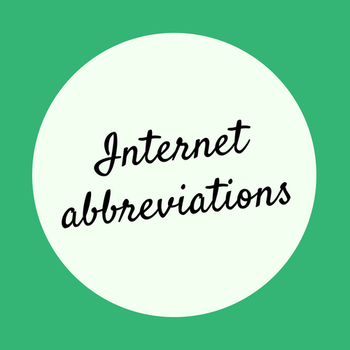Internet common abbreviations
