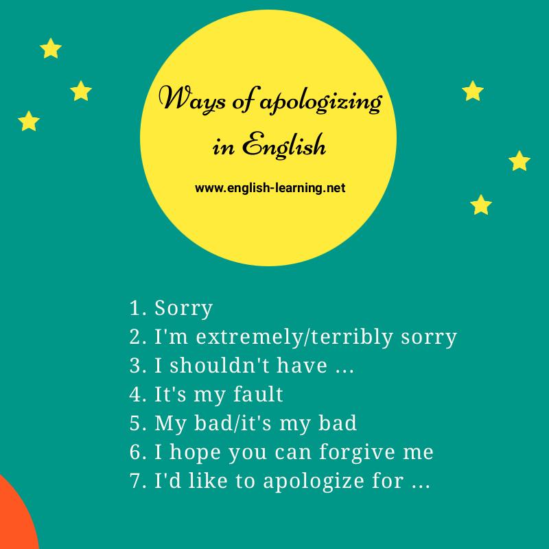Apologize in English