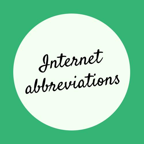 Internet common abbreviations