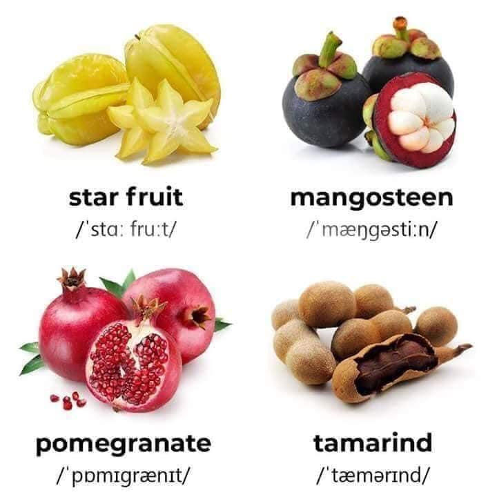 Tên Tiếng Anh các loại trái cây