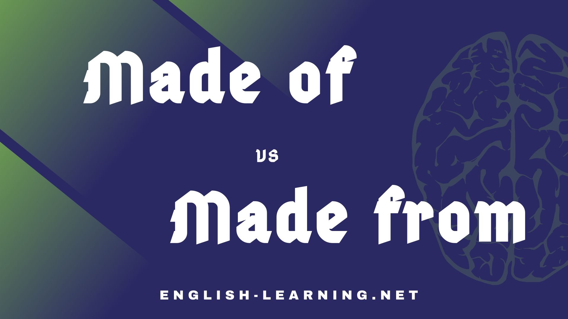 Phân biệt Made of và made from