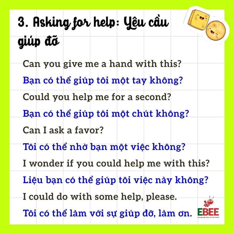 Mẫu câu giao tiếp Tiếng Anh