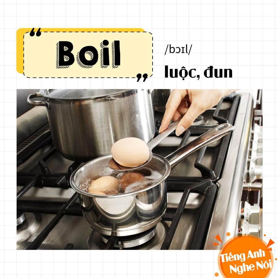 Động từ trong nấu ăn Tiếng Anh